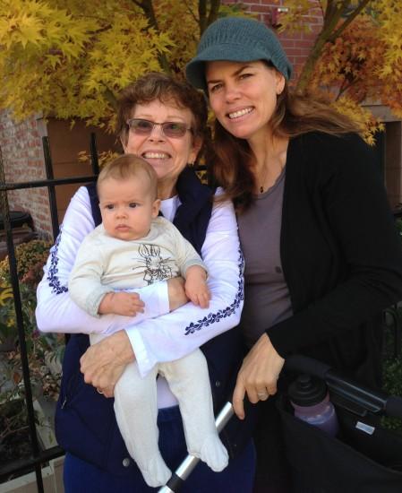 Three generations: Grandma Susan, Maeve and me