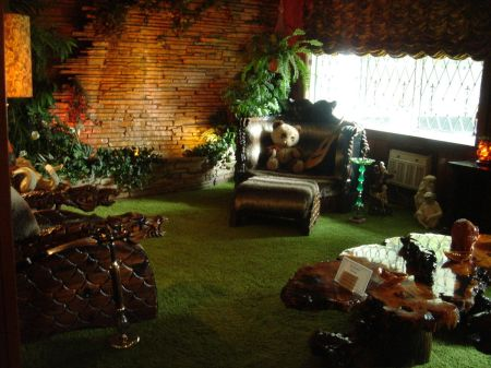 "Graceland's Jungle Room. Photo ""GracelandJungleRoom"" by Egghead06 (talk). Original uploader was Egghead06 at en.wikipedia - Transferred from en.wikipedia; transferred to Commons by User:DoxTxob using CommonsHelper.(Original text : self-made). Licensed under Public Domain via Wikimedia Commons - http://commons.wikimedia.org/wiki/File:GracelandJungleRoom.JPG#mediaviewer/File:GracelandJungleRoom.JPG"